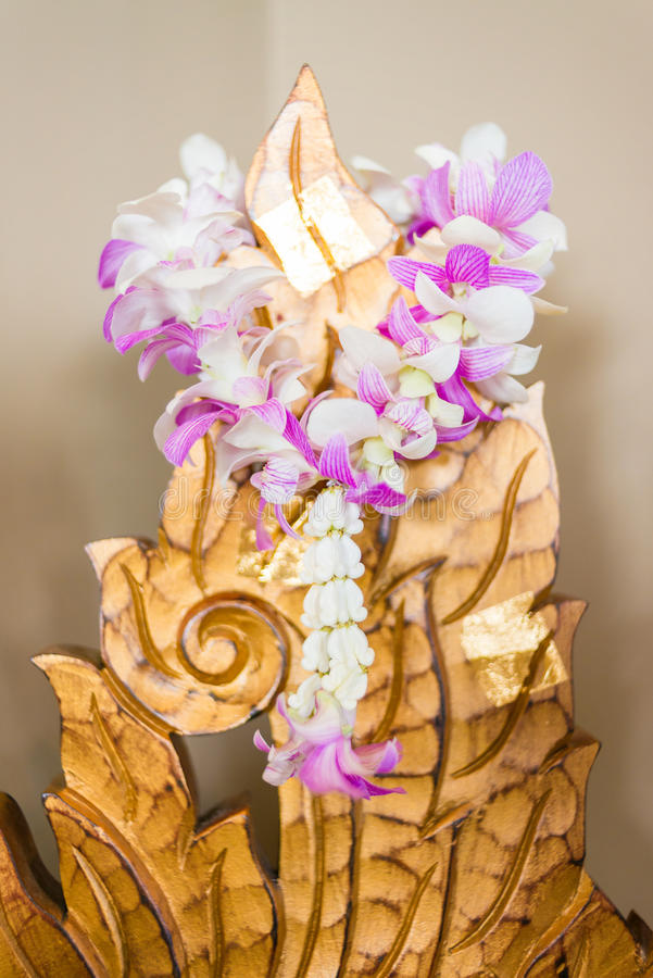 Garland of flowers royalty free stock photo