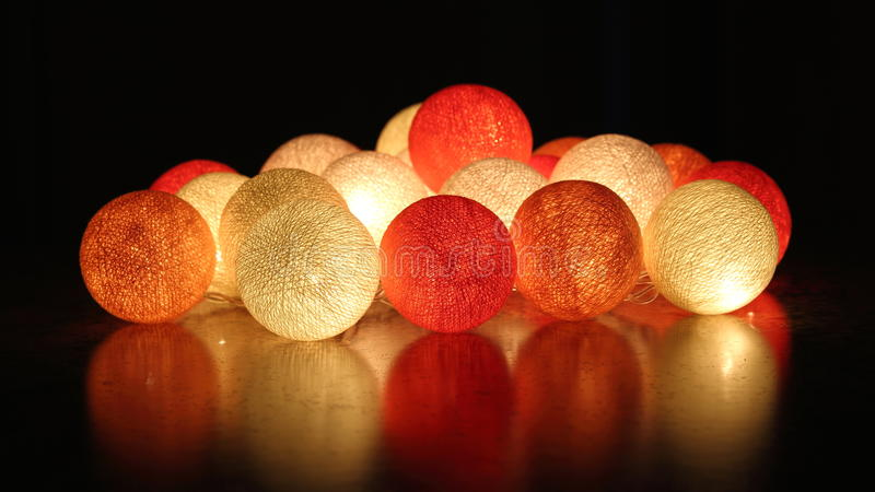 garland of glowing balls royalty free stock images