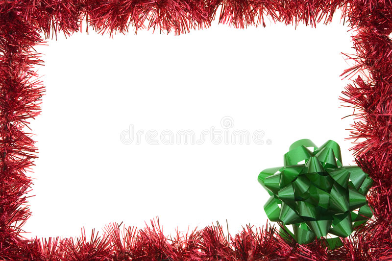 Garland holiday border stock image of december