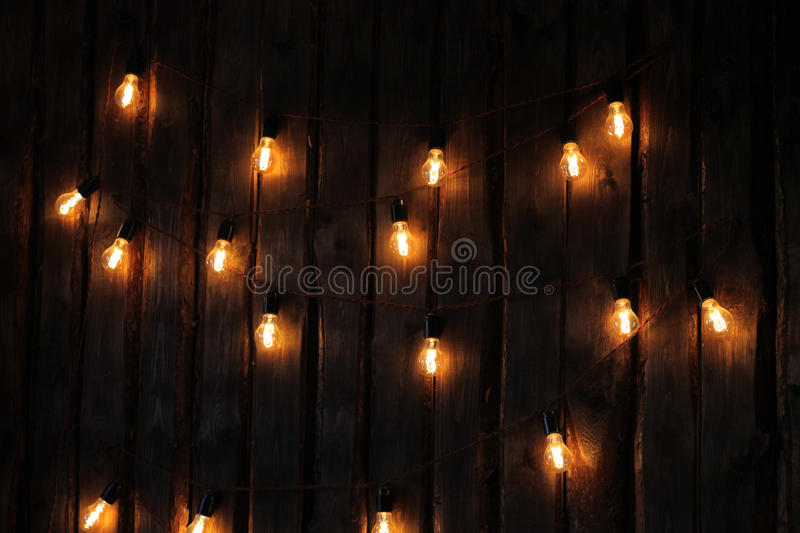 A garland of lamps stock photography