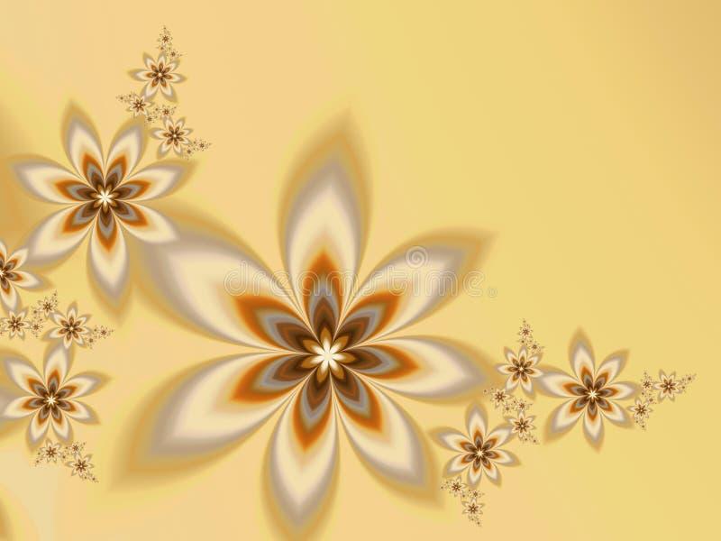 Garlands of fractal flowers stock photos