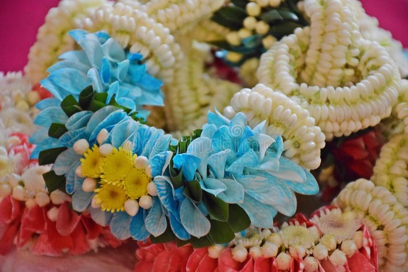 Flower garlands stock photo