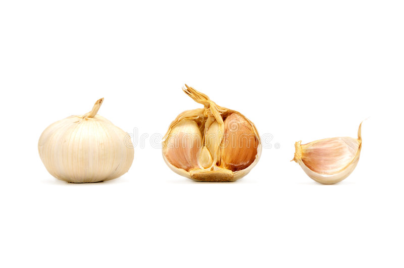 Garlic. Isolated on a white background royalty free stock images