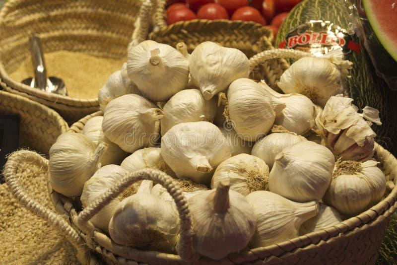 Garlic Basquet royalty free stock image