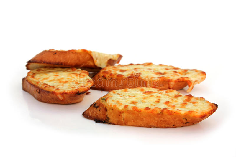 Garlic Bread. Freshly baked garlic bread slices stock photography