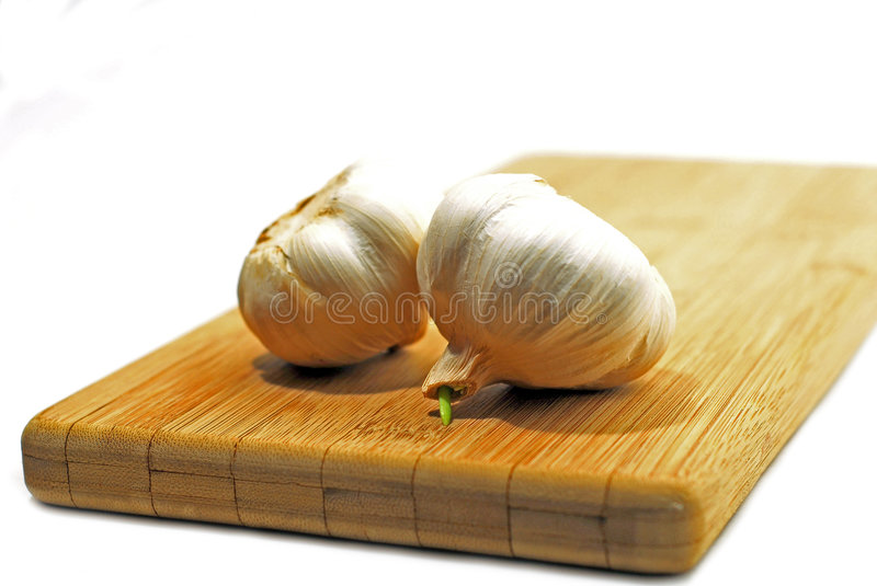 Garlic bulb white royalty free stock image
