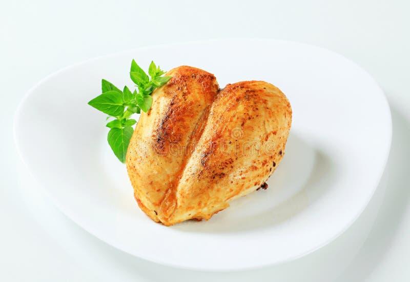 Garlic chicken breast stock photography
