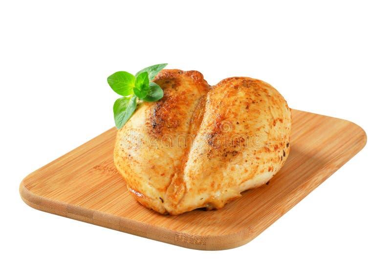Garlic chicken breast stock photo