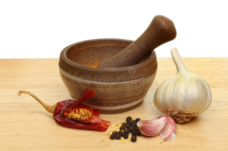Garlic and chilli stock images