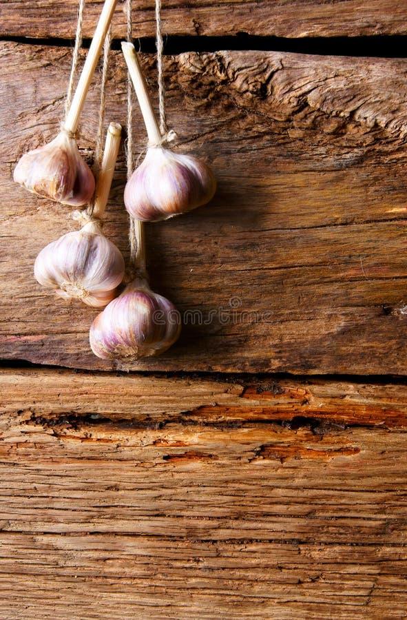 Garlic on a cord.