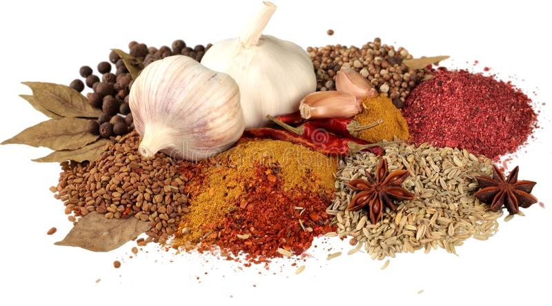 Variety of Dried Spice - Isolated stock photos