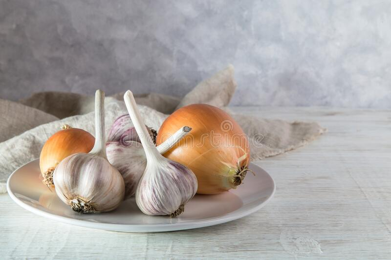 Image with garlic. royalty free stock images