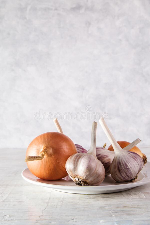 Image with garlic. stock images