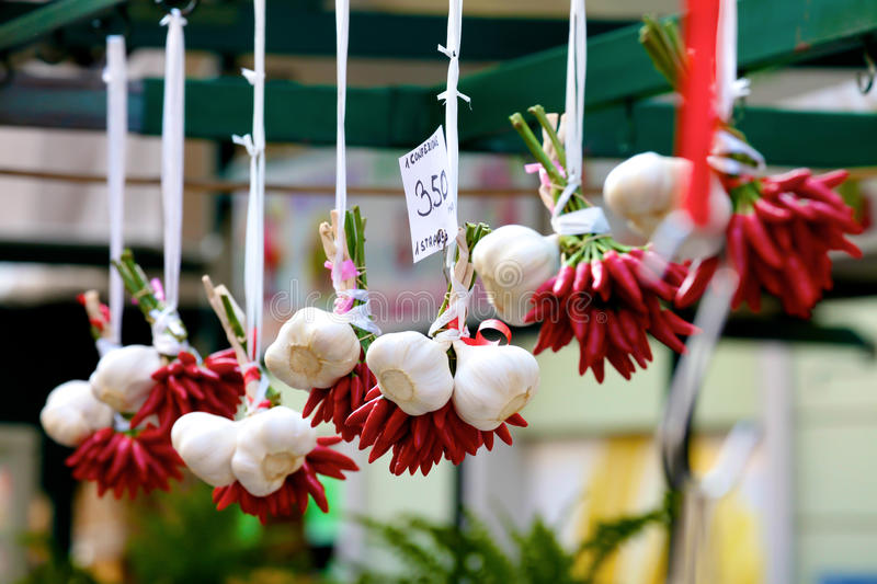 Garlic And Peppers Royalty Free Stock Photography