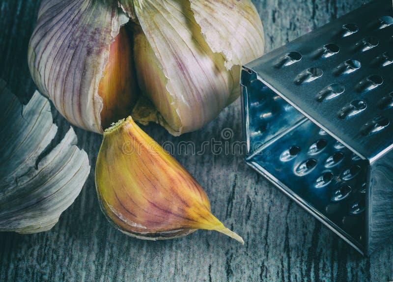 garlic Vista superior fotos de stock