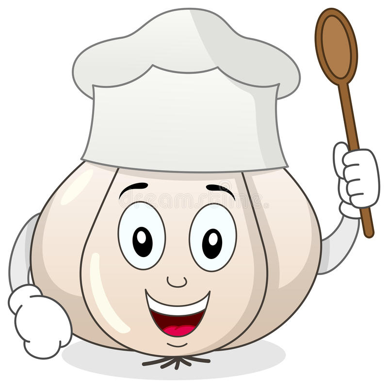 Free Garlic With Chef Hat Cartoon Character Royalty Free Stock Images - 50845149