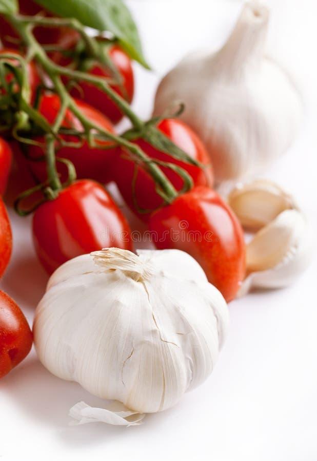 garlics蕃茄 免版税库存照片