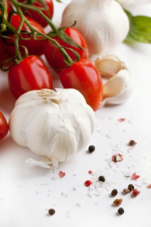 garlics蕃茄 库存照片