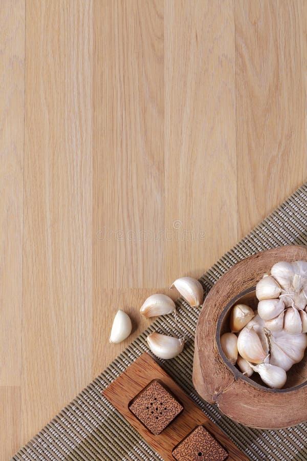 Garlics z pustą przestrzenią zdjęcie royalty free