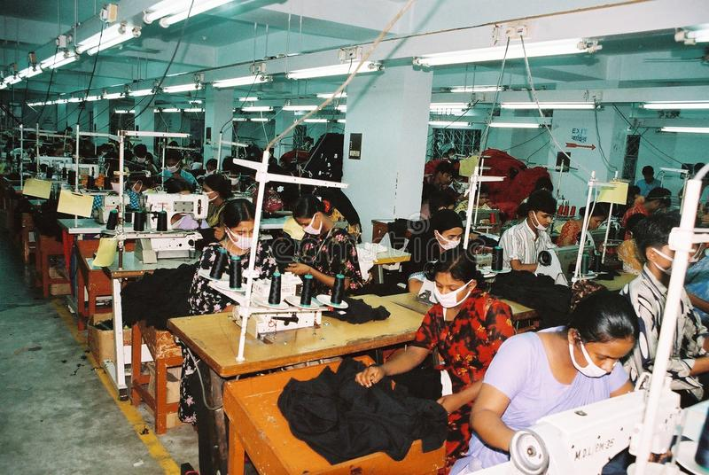 Garments industry in Bangladesh. The readymade garments industry acts as a catalyst for the development of Bangladesh. The `Made in Bangladesh` tag has also royalty free stock photography
