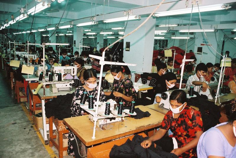 Garments industry in Bangladesh royalty free stock photography