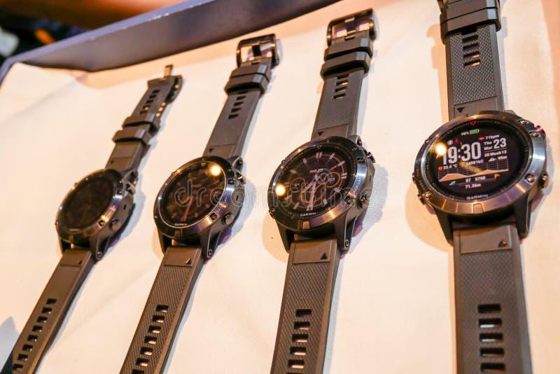 Garmin Fenix 5 har den smarta klockan avtäckts i Thailand royaltyfri bild