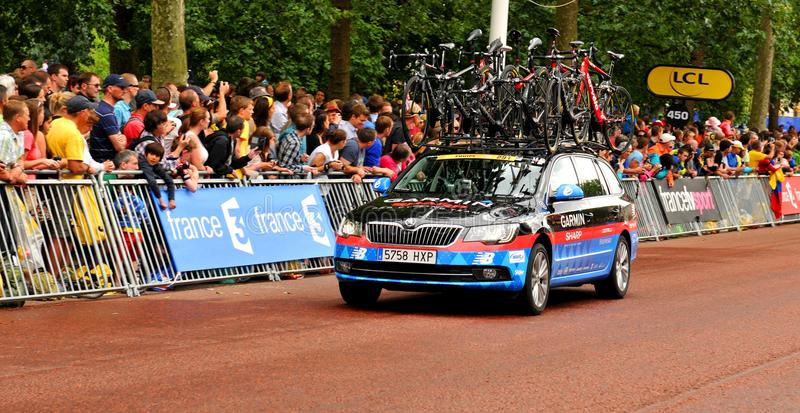 Download Garmin Team In The Tour De France Editorial Image - Image of circuit, audience: 42280450