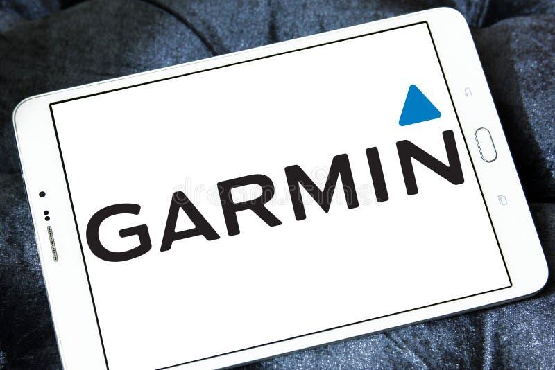 Garmin technologii firmy logo obrazy royalty free