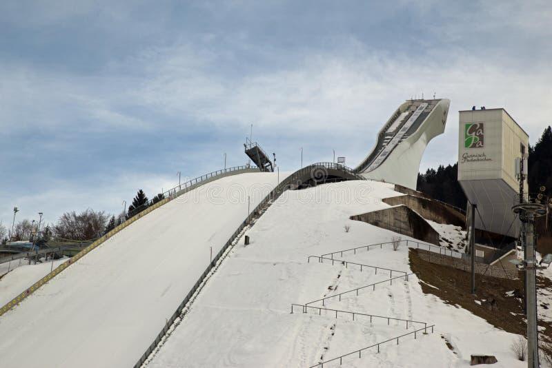 Garmisch narciarskiego skoku wierza zdjęcie stock