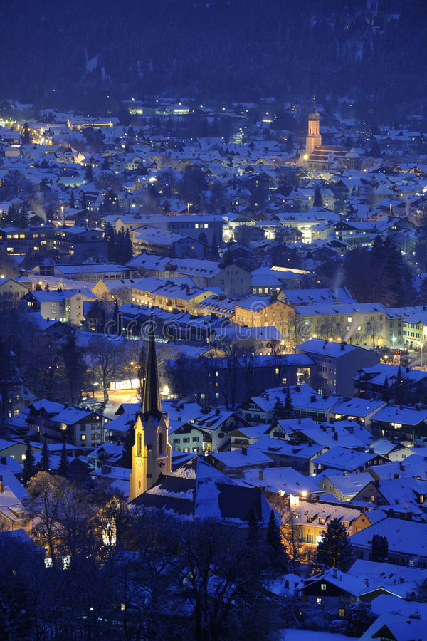 garmisch niemiec partenkirchen miasteczko obraz royalty free
