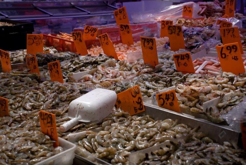 Garnalen in chinatown stock fotografie