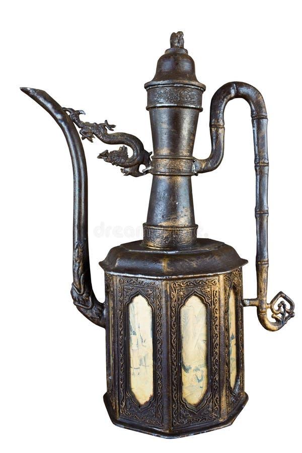 garnek żelazna stara herbata zdjęcia royalty free