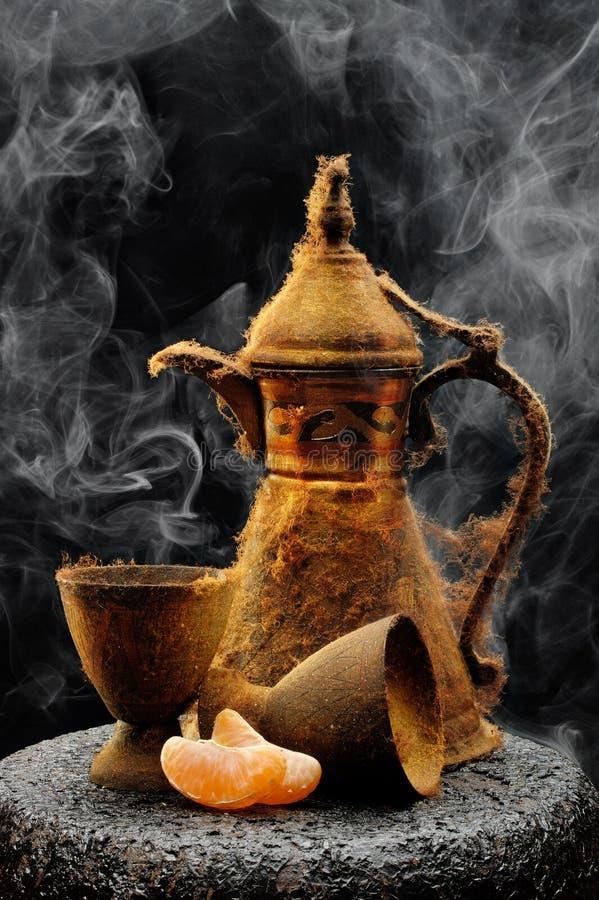 garnek antykwarska herbata obrazy stock
