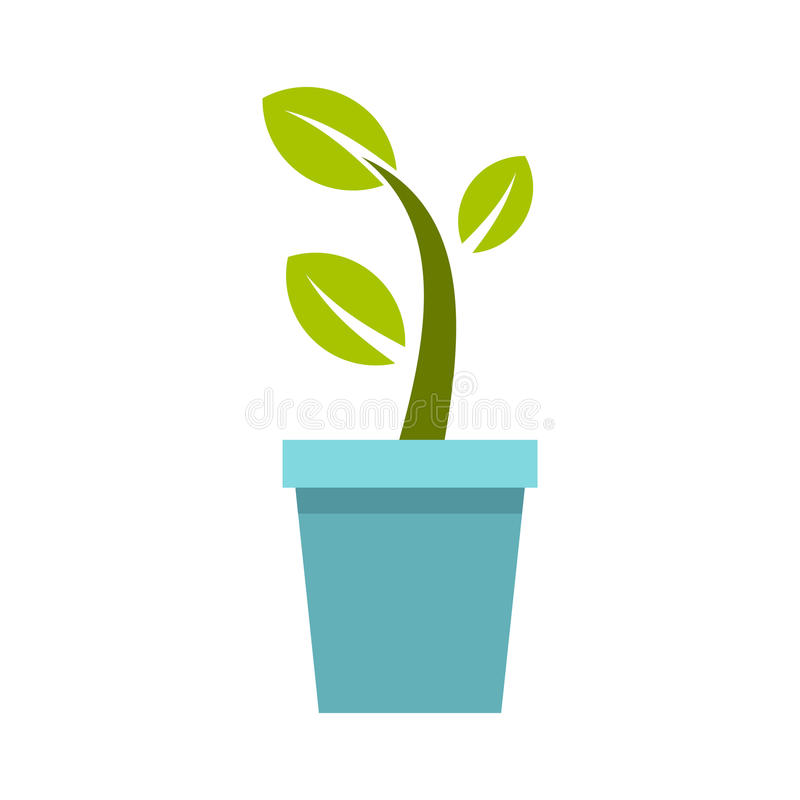 Garnek drzewna ikona, mieszkanie styl ilustracja wektor