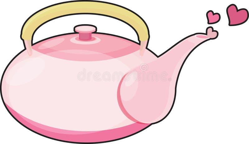 garnek herbata royalty ilustracja