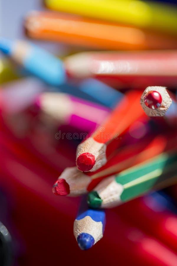Garnek koloryt ołówki fotografia stock