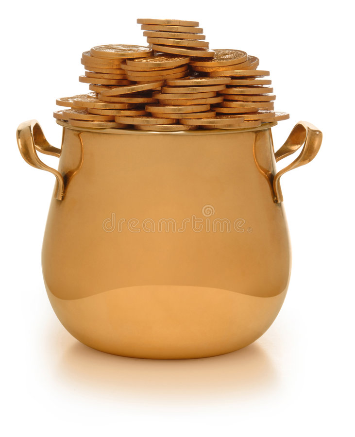 garnek złota zdjęcia stock
