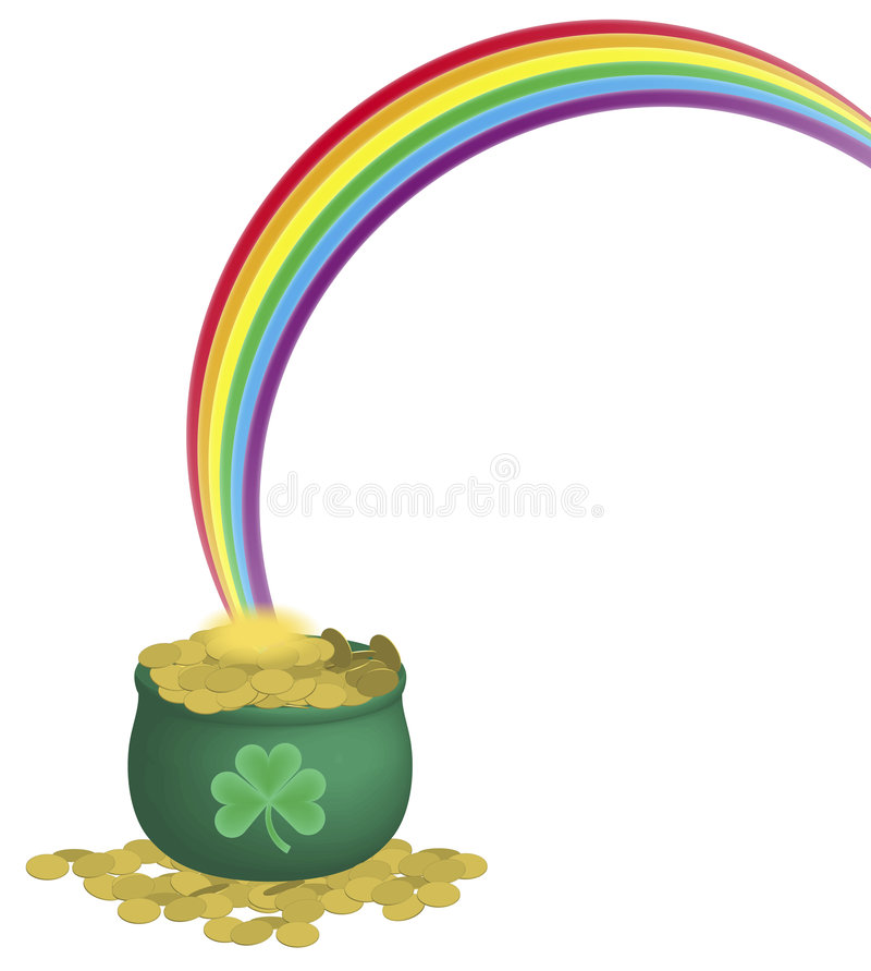 garnek złota rainbow ilustracji