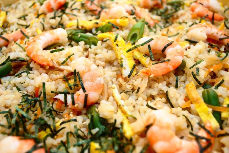 Garnele-gebratener Reis lizenzfreies stockfoto