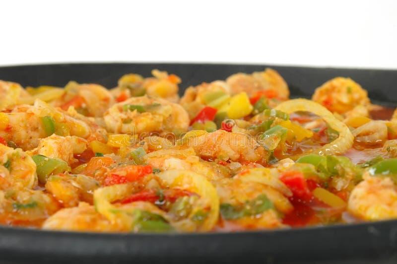 Garnele-Mahlzeit lizenzfreies stockbild