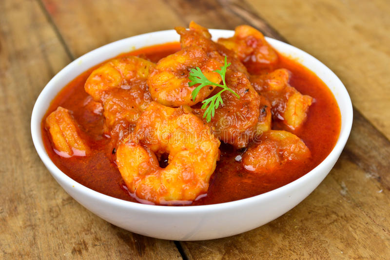 Garnelen-Curry lizenzfreies stockfoto