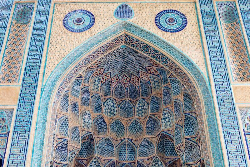 Garnering av den historiska Natanz moskén i Natanz, Iran arkivbild