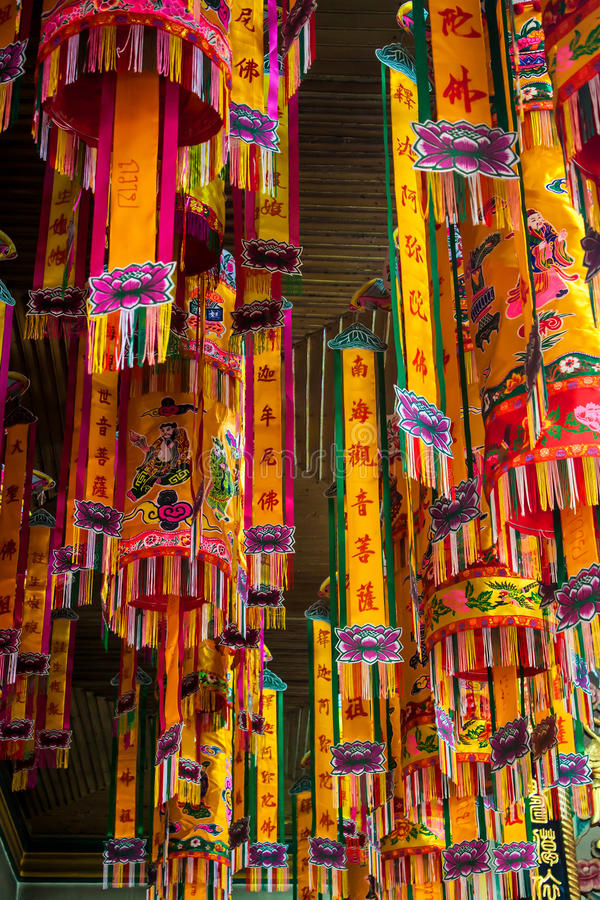 Garnering av den kinesiska templet royaltyfri bild