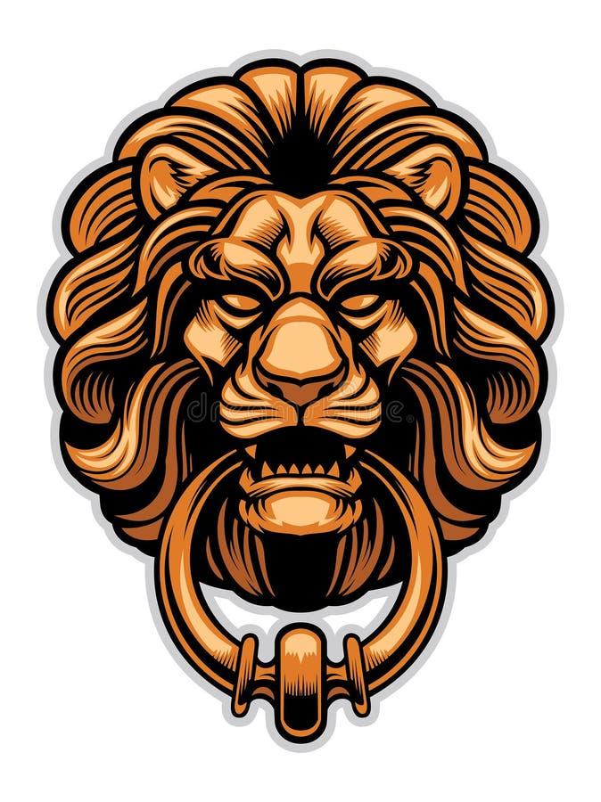 Garnering av lejondörrknackaren royaltyfri illustrationer