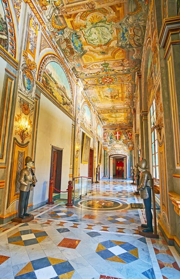 Garnering av slotten för Grandmaster` s, Valletta, Malta arkivfoton