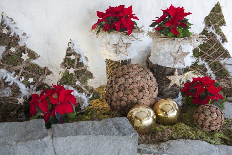 Garnering för advent- och julsäsong arkivfoto