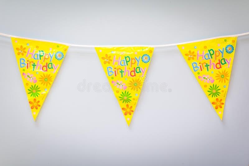 Garnering för flagga för födelsedagparti arkivbilder