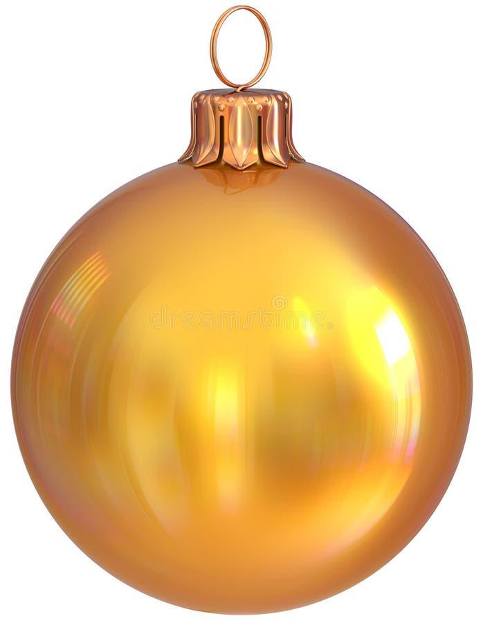 Garnering för helgdagsafton för ` s för nytt år för guling för julbollstruntsak guld- royaltyfri illustrationer
