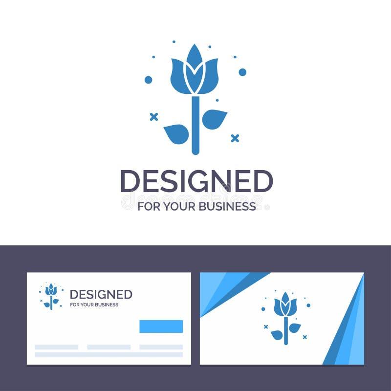 Garnering för idérik mall för affärskort och logo, påsk, blomma, växtvektorillustration vektor illustrationer