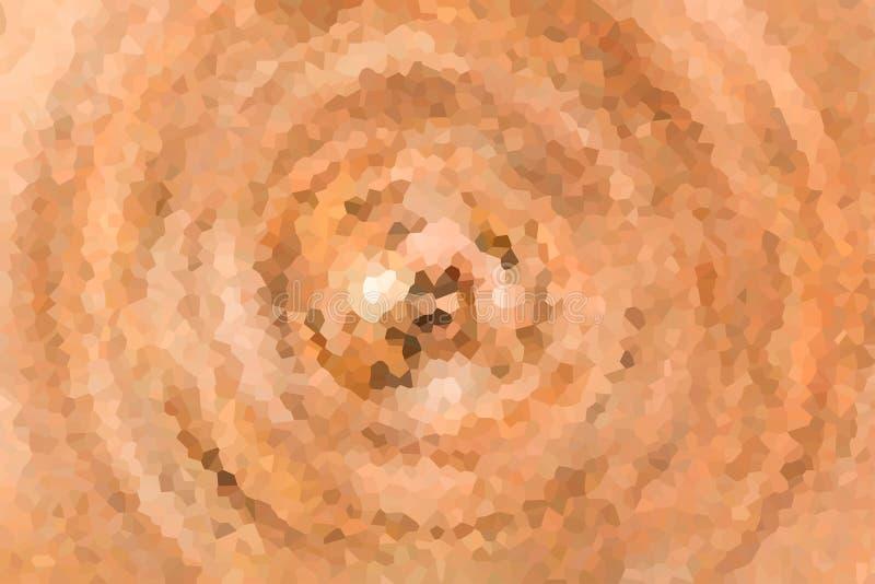 Garnering för modell för design för grund för kalejdoskop för effekt för textur för brun iskall bakgrund för mosaik abstrakt virv stock illustrationer